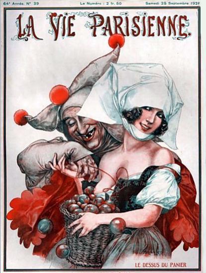 Roaring 1920s La Vie Parisienne 1926 Le Dessus Du Panier | Roaring 1920s Ad Art and Magazine Cover Art