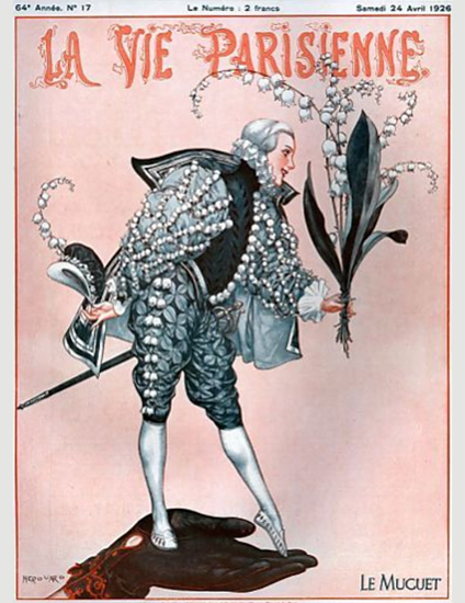 Roaring 1920s La Vie Parisienne 1926 Le Muguet | Roaring 1920s Ad Art and Magazine Cover Art