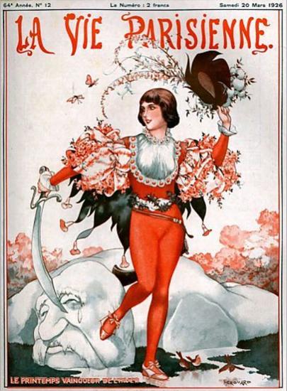 Roaring 1920s La Vie Parisienne 1926 Le Printemps | Roaring 1920s Ad Art and Magazine Cover Art