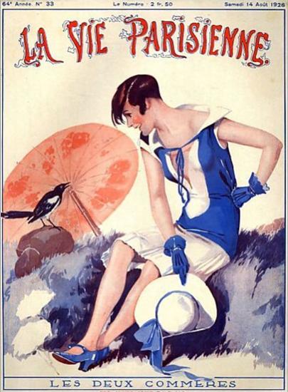 Roaring 1920s La Vie Parisienne 1926 Les Deux Commeres   Roaring 1920s Ad Art and Magazine Cover Art