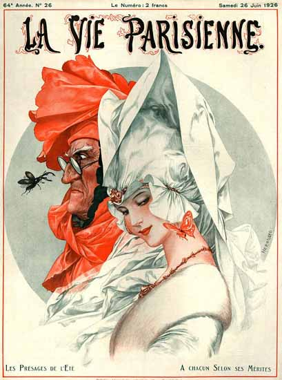 Roaring 1920s La Vie Parisienne 1926 Les Presages De L Ete | Roaring 1920s Ad Art and Magazine Cover Art