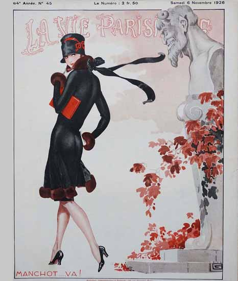 Roaring 1920s La Vie Parisienne 1926 Manchot Va   Roaring 1920s Ad Art and Magazine Cover Art