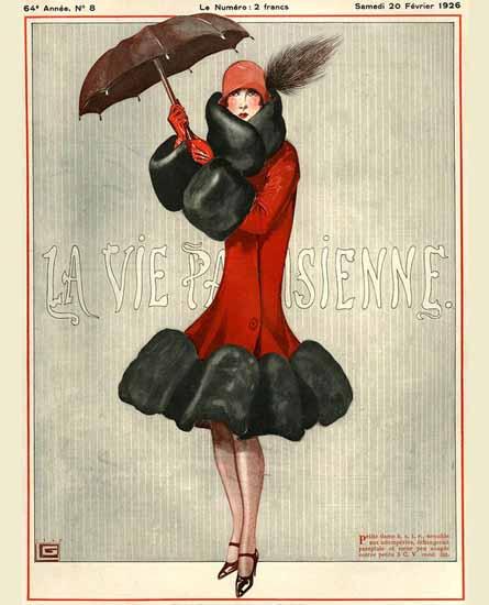 Roaring 1920s La Vie Parisienne 1926 Petite Dame   Roaring 1920s Ad Art and Magazine Cover Art