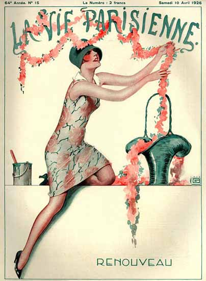 Roaring 1920s La Vie Parisienne 1926 Renouveau Paris France | Roaring 1920s Ad Art and Magazine Cover Art