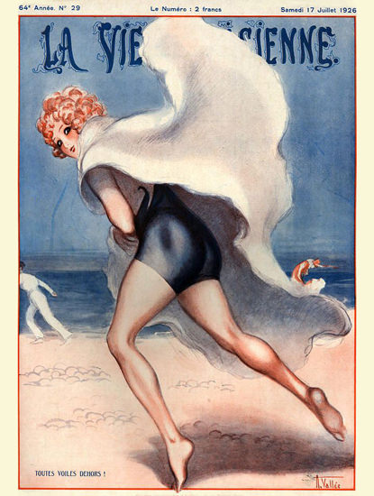 Roaring 1920s La Vie Parisienne 1926 Toutes Voile Dehors Armand Vallee | Roaring 1920s Ad Art and Magazine Cover Art