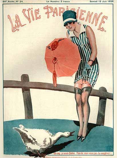 Roaring 1920s La Vie Parisienne 1926 Tu Exageres | Roaring 1920s Ad Art and Magazine Cover Art