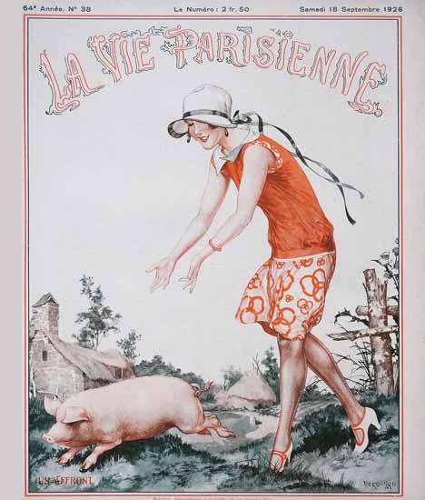 Roaring 1920s La Vie Parisienne 1926 Un Affront | Roaring 1920s Ad Art and Magazine Cover Art