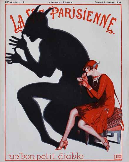 Roaring 1920s La Vie Parisienne 1926 Un Bon Petit Diable | Roaring 1920s Ad Art and Magazine Cover Art