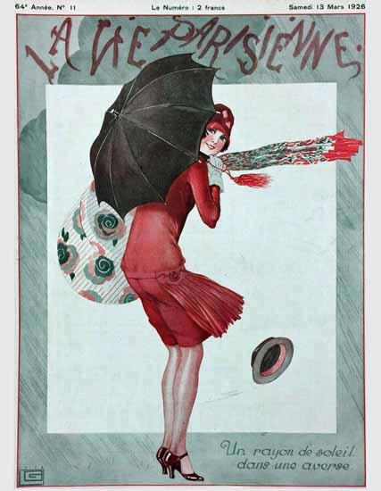 Roaring 1920s La Vie Parisienne 1926 Un Rayon De Soleil | Roaring 1920s Ad Art and Magazine Cover Art