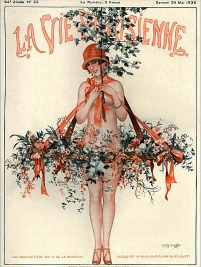 Roaring 1920s La Vie Parisienne 1926 Une Bouquetiere | Roaring 1920s Ad Art and Magazine Cover Art