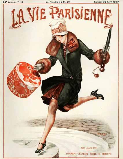 Roaring 1920s La Vie Parisienne 1927 Alea Jacta Est | Roaring 1920s Ad Art and Magazine Cover Art
