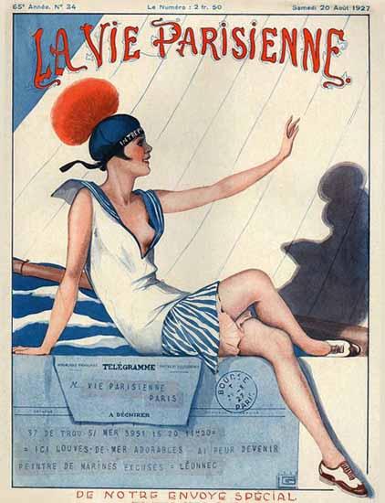 Roaring 1920s La Vie Parisienne 1927 De Notre Envoye Special | Roaring 1920s Ad Art and Magazine Cover Art
