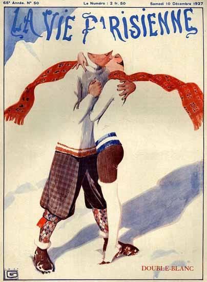 Roaring 1920s La Vie Parisienne 1927 Double-Blanc   Roaring 1920s Ad Art and Magazine Cover Art