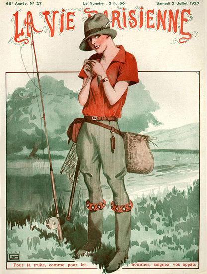 Roaring 1920s La Vie Parisienne 1927 Juillet 2 Georges Leonnec | Roaring 1920s Ad Art and Magazine Cover Art