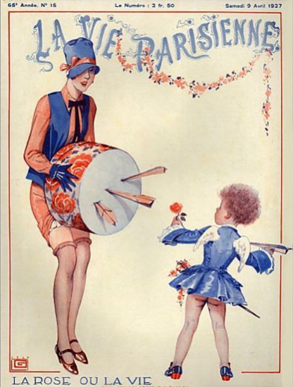 Roaring 1920s La Vie Parisienne 1927 La Rose Ou La Vie | Roaring 1920s Ad Art and Magazine Cover Art