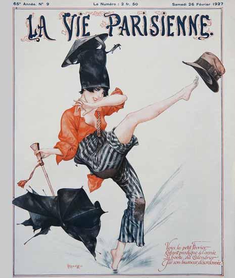 Roaring 1920s La Vie Parisienne 1927 Le Petit Fevrier | Roaring 1920s Ad Art and Magazine Cover Art