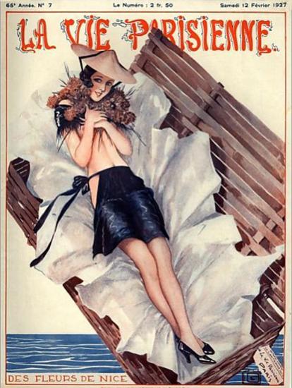 Roaring 1920s La Vie Parisienne 1927 Les Fleurs De Nice | Roaring 1920s Ad Art and Magazine Cover Art