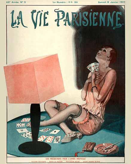 Roaring 1920s La Vie Parisienne 1927 Les Predictions | Roaring 1920s Ad Art and Magazine Cover Art