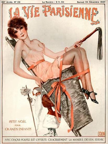 Roaring 1920s La Vie Parisienne 1927 Petit Noel Pour Grandes Enfants | Roaring 1920s Ad Art and Magazine Cover Art