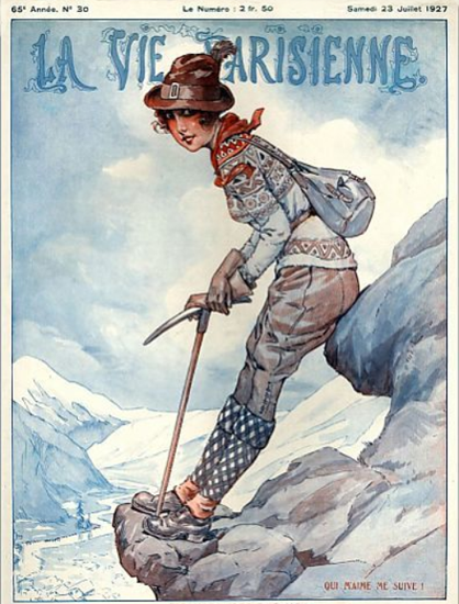 Roaring 1920s La Vie Parisienne 1927 Qui Me Suive | Roaring 1920s Ad Art and Magazine Cover Art