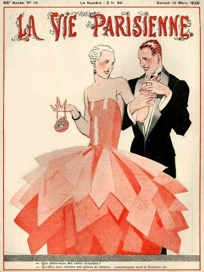 Roaring 1920s La Vie Parisienne 1928 Des Robes Actuelles | Roaring 1920s Ad Art and Magazine Cover Art