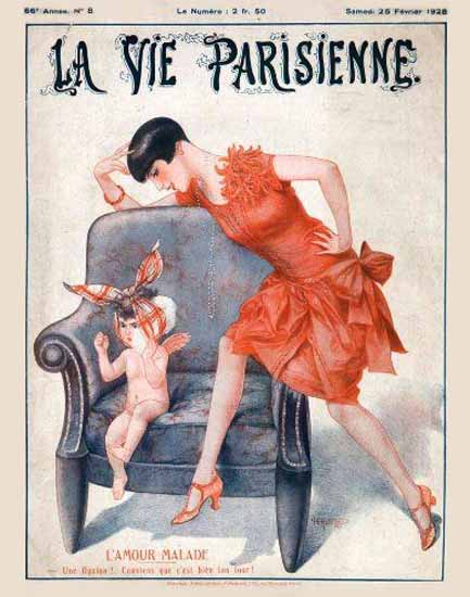 Roaring 1920s La Vie Parisienne 1928 L Amour Malade | Roaring 1920s Ad Art and Magazine Cover Art