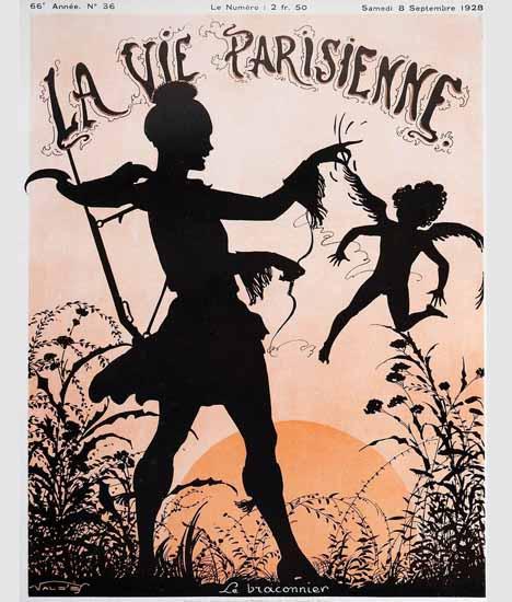 Roaring 1920s La Vie Parisienne 1928 La Braconnier | Roaring 1920s Ad Art and Magazine Cover Art