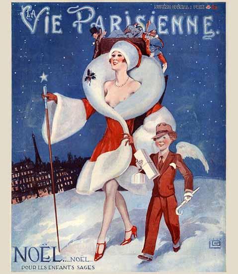 Roaring 1920s La Vie Parisienne 1928 Pour Les Enfants Sages | Roaring 1920s Ad Art and Magazine Cover Art