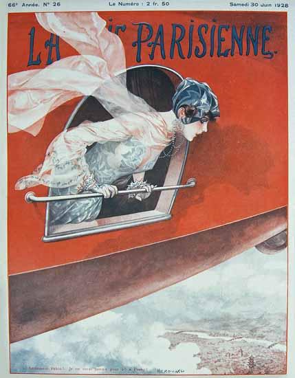 Roaring 1920s La Vie Parisienne 1928 Seulement Pekin | Roaring 1920s Ad Art and Magazine Cover Art