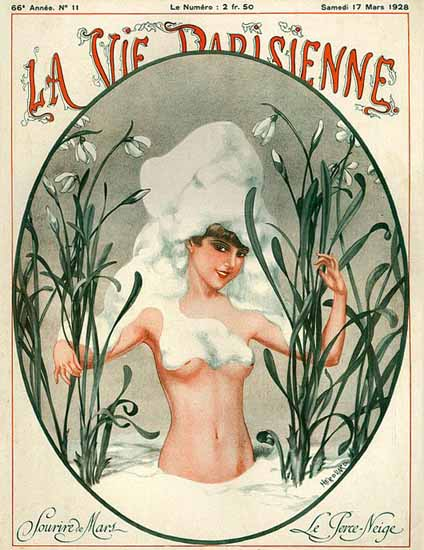 Roaring 1920s La Vie Parisienne 1928 Sourire De Mars | Roaring 1920s Ad Art and Magazine Cover Art