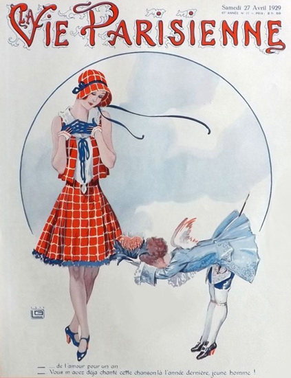 Roaring 1920s La Vie Parisienne 1929 Avril 27 Georges Leonnec | Roaring 1920s Ad Art and Magazine Cover Art