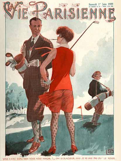 Roaring 1920s La Vie Parisienne 1929 Blagueur | Roaring 1920s Ad Art and Magazine Cover Art