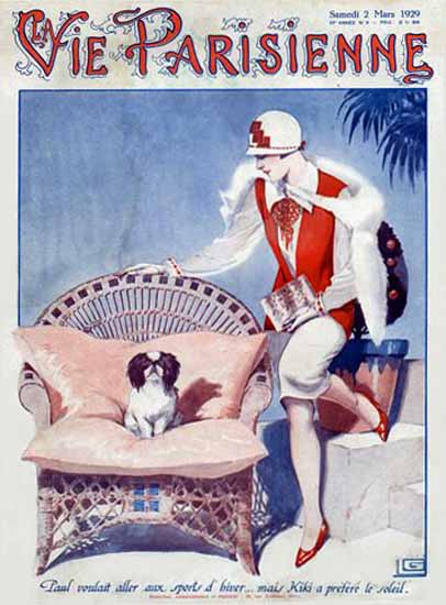 Roaring 1920s La Vie Parisienne 1929 Kiki Georges Leonnec | Roaring 1920s Ad Art and Magazine Cover Art