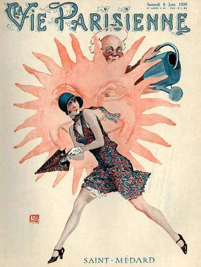 Roaring 1920s La Vie Parisienne 1929 Saint-Medard | Roaring 1920s Ad Art and Magazine Cover Art