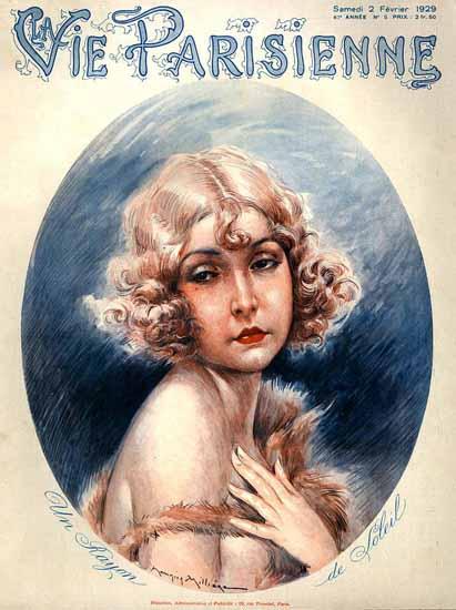 Roaring 1920s La Vie Parisienne 1929 Une Rayon De Soleil | Roaring 1920s Ad Art and Magazine Cover Art
