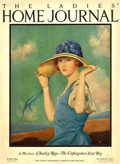 Roaring 1920s Ladies Home Journal Copyright 1924 Unforgotten Lost Boy | Roaring 1920s Ad Art and Magazine Cover Art