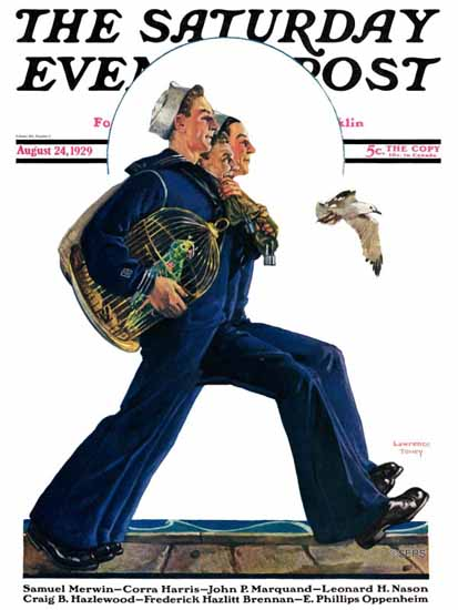 Roaring 1920s Lawrence Toney Artist Saturday Evening Post 1929_08_24 | Roaring 1920s Ad Art and Magazine Cover Art
