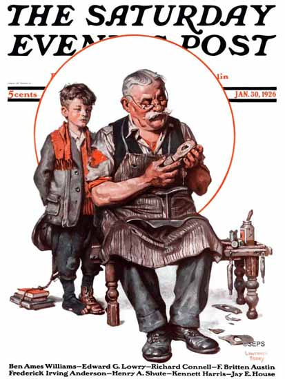 Roaring 1920s Lawrence Toney Saturday Evening Post 1926_01_30 | Roaring 1920s Ad Art and Magazine Cover Art