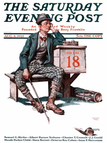 Roaring 1920s Lawrence Toney Saturday Evening Post Hole 18 1925_08_08 | Roaring 1920s Ad Art and Magazine Cover Art