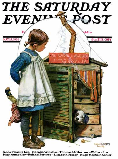 Roaring 1920s Lawrence Toney Saturday Evening Post NO 1926_05_15 | Roaring 1920s Ad Art and Magazine Cover Art
