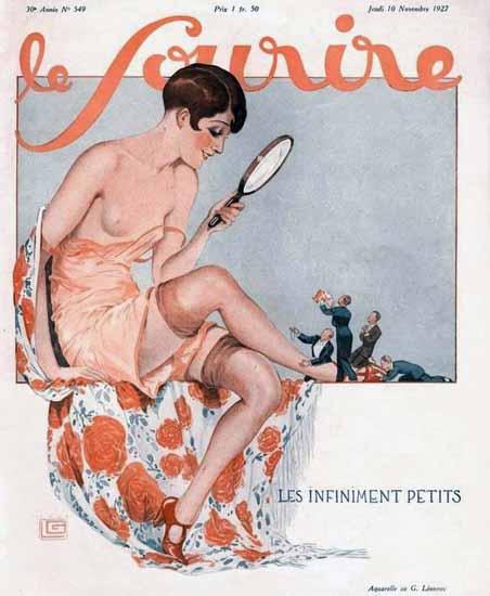 Roaring 1920s Le Sourire 1927 Les Infiniment Petits Georges Leonnec | Roaring 1920s Ad Art and Magazine Cover Art