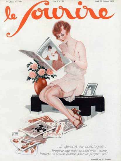 Roaring 1920s Le Sourire 1928 Catalogues Georges Leonnec | Roaring 1920s Ad Art and Magazine Cover Art