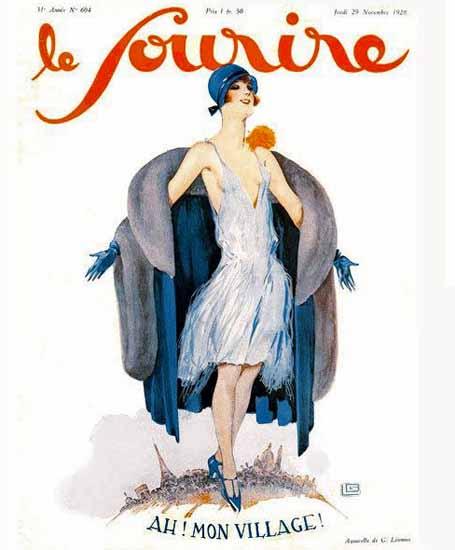 Roaring 1920s Le Sourire 1928 Paris Mon Village Georges Leonnec | Roaring 1920s Ad Art and Magazine Cover Art