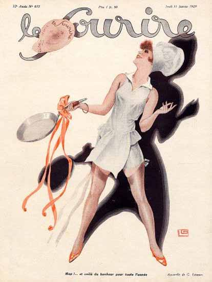 Roaring 1920s Le Sourire 1929 Bonheur Georges Leonnec | Roaring 1920s Ad Art and Magazine Cover Art