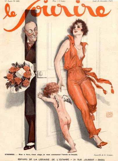 Roaring 1920s Le Sourire 1929 Etonner Georges Leonnec | Roaring 1920s Ad Art and Magazine Cover Art