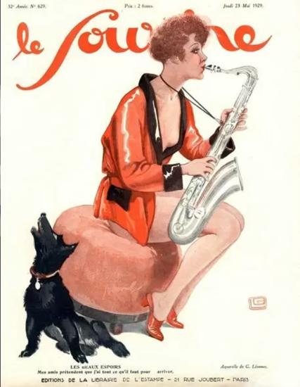 Roaring 1920s Le Sourire 1929 Les Beaux Espoirs | Roaring 1920s Ad Art and Magazine Cover Art