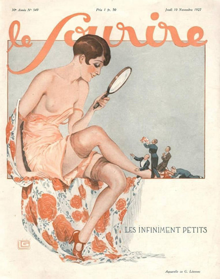 Roaring 1920s Le Sourire Magazine 1927 Les Infiniment Petits | Roaring 1920s Ad Art and Magazine Cover Art