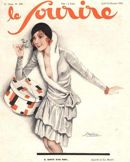Roaring 1920s Le Sourire Magazine 1929 Il Suffit D Un Rien | Roaring 1920s Ad Art and Magazine Cover Art