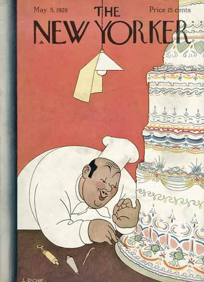 Roaring 1920s Leonard Dove The New Yorker 1928_05_05 Copyright | Roaring 1920s Ad Art and Magazine Cover Art