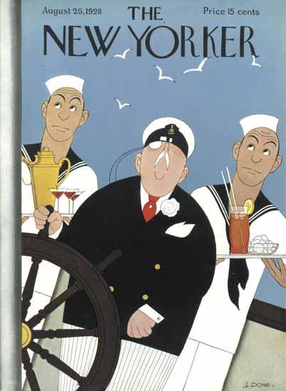 Roaring 1920s Leonard Dove The New Yorker 1928_08_25 Copyright | Roaring 1920s Ad Art and Magazine Cover Art